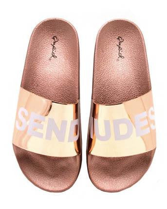 Rose Gold Send Nudes Slides