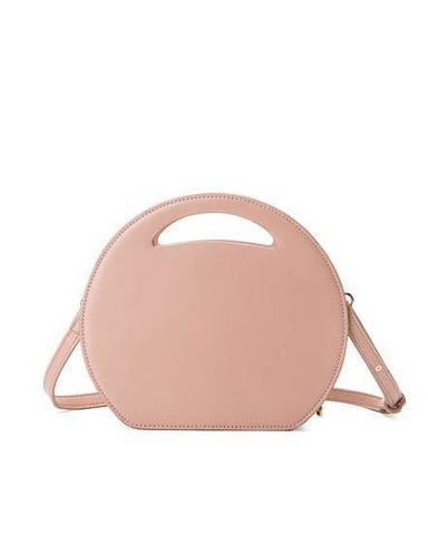 Carrell Blush Round Purse With Detachable Strap