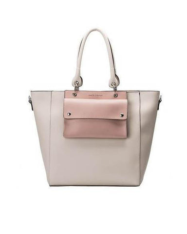 Carter Structured Two Tone Tote