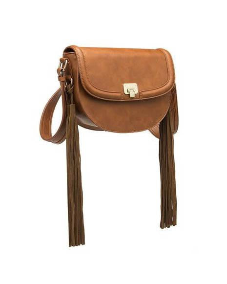 Lennon Saddle Tassel Crossbody