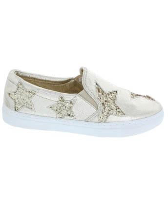 Metallic Glitter Star Sneaker Slip-On