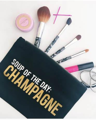 'Soup Of The Day - Champs' Makeup Pouch