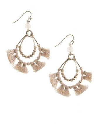 Fringe Teardrop Summer Earrings