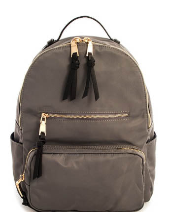 Double Side Pocket Backpack - Grey