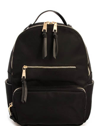 Double Side Pocket Backpack - Black