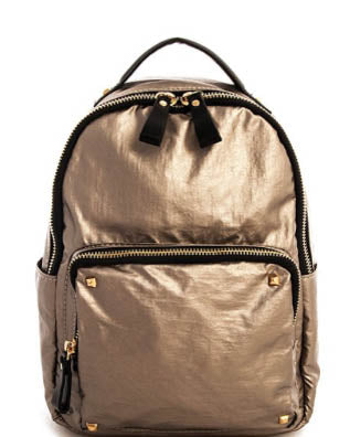 Metallic Pewter Backpack