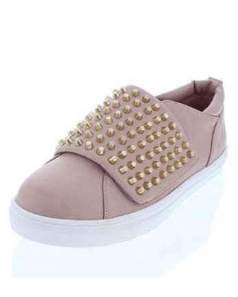 Pink Sneaker With Studded Foldover Flap