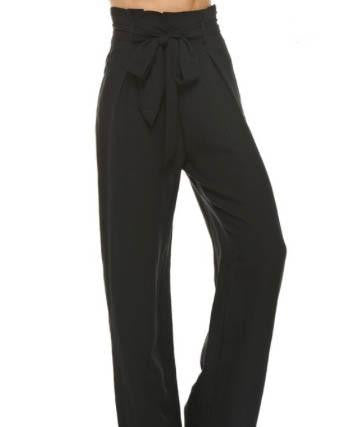 High Waisted Pants With Drawstring