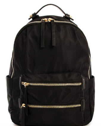 Multi Pocket Double Zipper Backpack