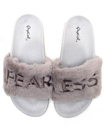 FearLess Faux Fur Slides