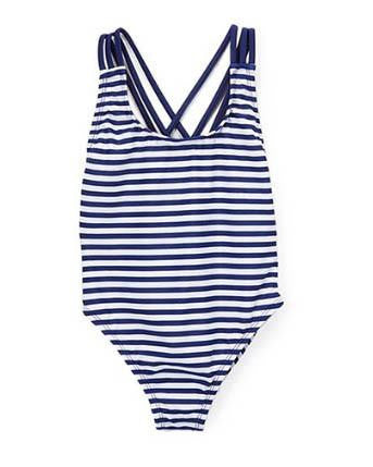 Kids Nautical Navy One-Piece Swimsuit