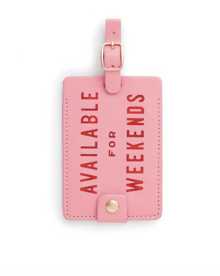 Ban.Do Available For Weekends Luggage Tag