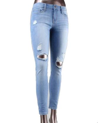 FLYING MONKEY Regular Rise Distressed Knee Jeans
