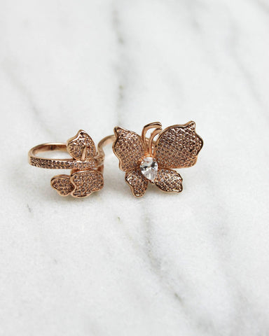 Flower Double Rose Gold Ring