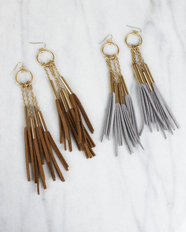 Fringe & Tassel Dangle Earrings