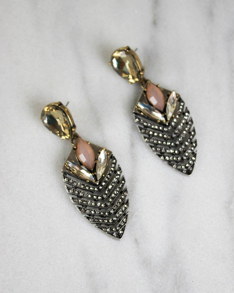 Crystal Pave Drop Earrings