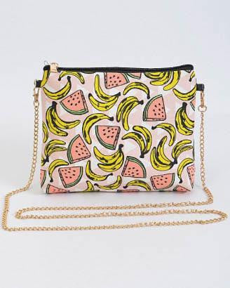 Banana And Watermelon Crossbody Clutch