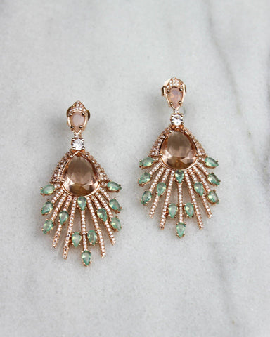 Statement Blush Crystal Earrings