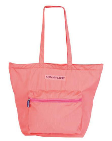 SunnyLife FOLD OUT TRAVEL BAG - HOT CORAL