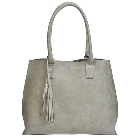 LOUISE Classic Tassel Tote (Grey)