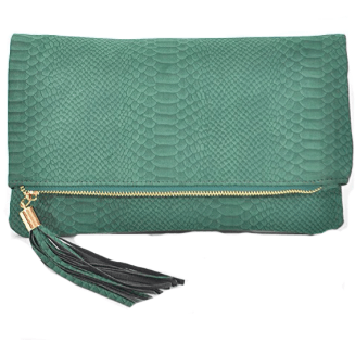 EMERALD Faux Suede Clutch