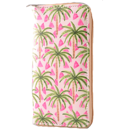 PALM TREE Zippy Wallet