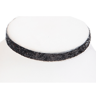 Glitter Choker Necklace (Black)