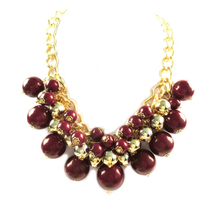 AUTUMN BERRY Statement Necklace