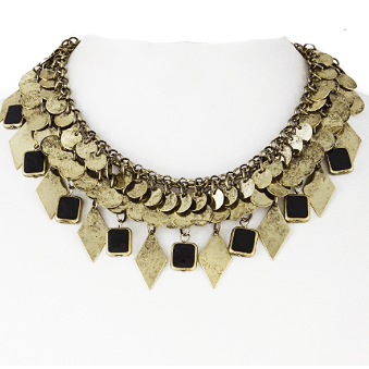 BRONZY LEAF Statement Necklace
