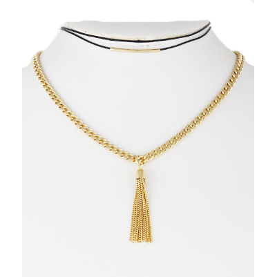 Tassel Layer Choker (Gold)