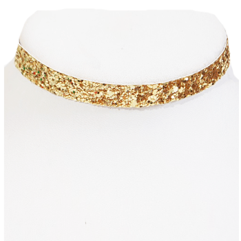 Glitter Choker Necklace (Gold)