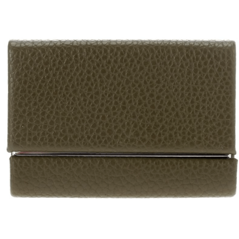 Faux Leather Card Case (Olive)