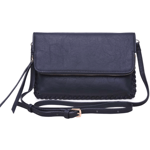ELIZABETH Threaded Clutch & Crossbody (Black)