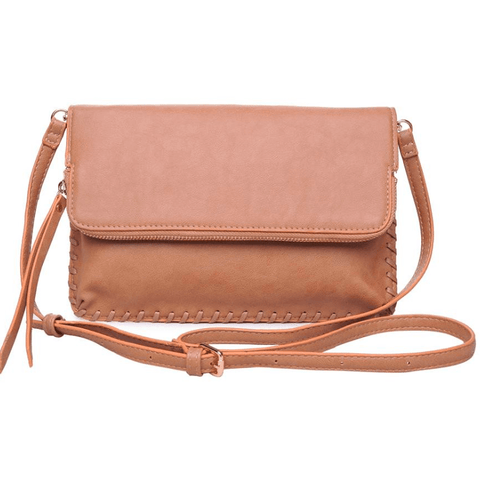 ELIZABETH Threaded Clutch & Crossbody (Mocha)