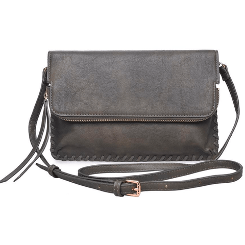 ELIZABETH Threaded Clutch & Crossbody (Olive)