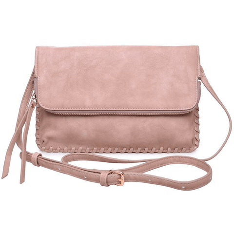 ELIZABETH Threaded Clutch & Crossbody (Blush)