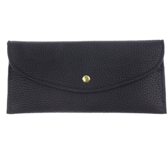 Flap Over Envelope Wallet - Black