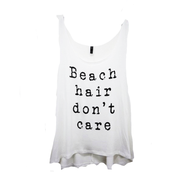 BEACH HAIR DON'T CARE Tank - Roehampton Road