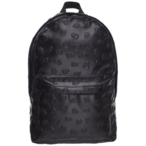 Skull Head Faux Leather Backpack (Black)