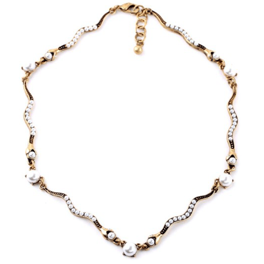 DILWORTH ROAD Faux Pearl Collar Necklace