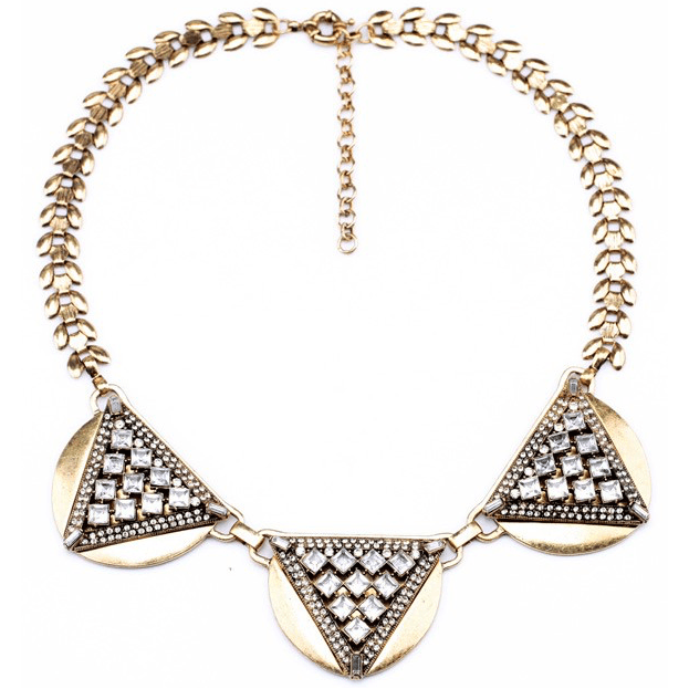 DILWORTH ROAD Triple Glass Crystal Statement Necklace