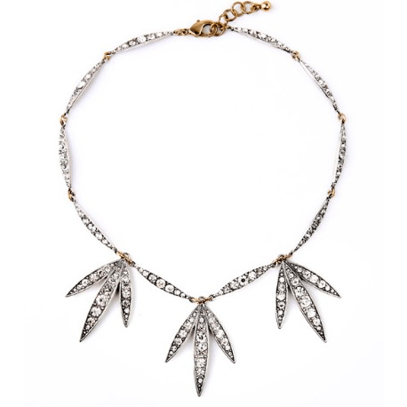 DILWORTH ROAD Triple Crystal Drop Necklace