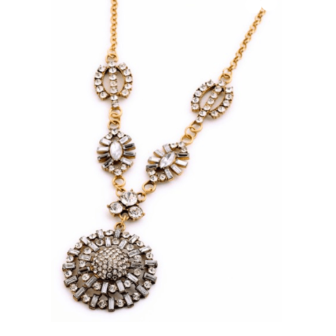 DR Multi Crystal Starburst Necklace