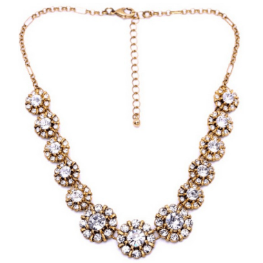 DR Multi Crystal Graduated Necklace