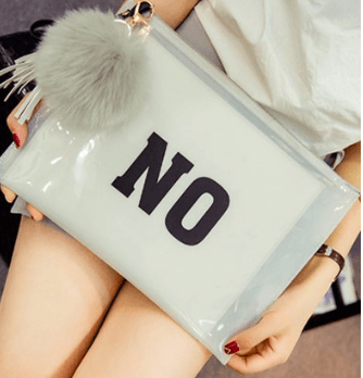 Catherine K Collections YES NO clutch