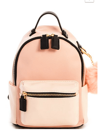 Catherine K Collection Two tone backpack