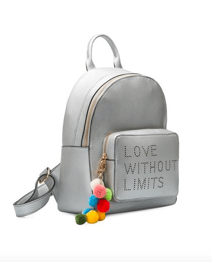 Love With No Limits Backpack With Detachable Pom Pom's
