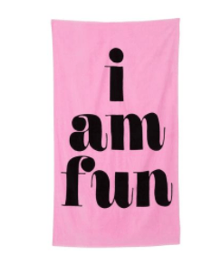 Ban.Do I Am Fun Beach Towel
