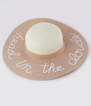 Head In The Clouds Summer Hat -Pale Pink