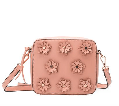 MELIE BIANCO Lauren Blush Flower Convertible Purse